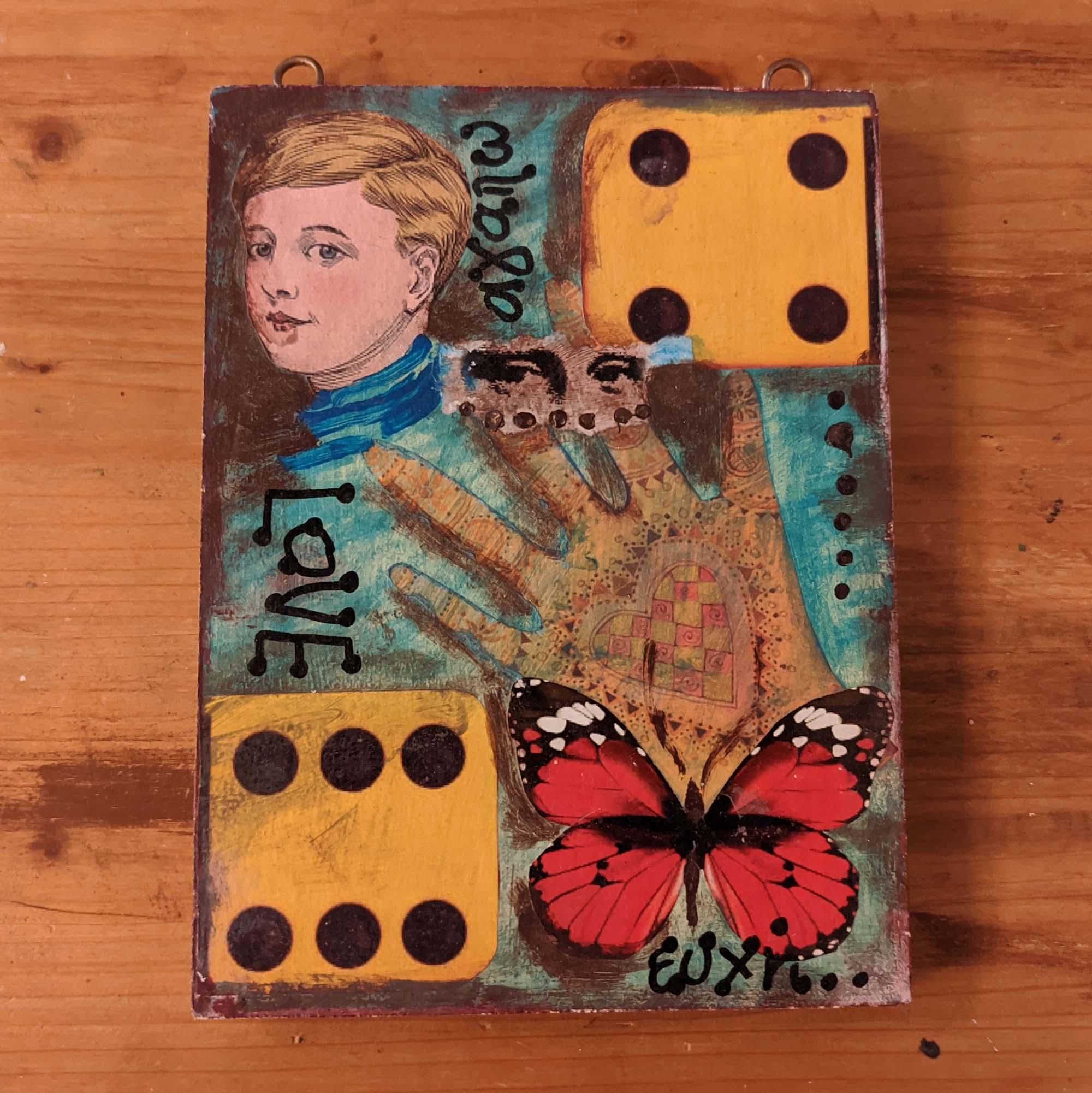 Ξύλινο κολάζ – Wooden collage