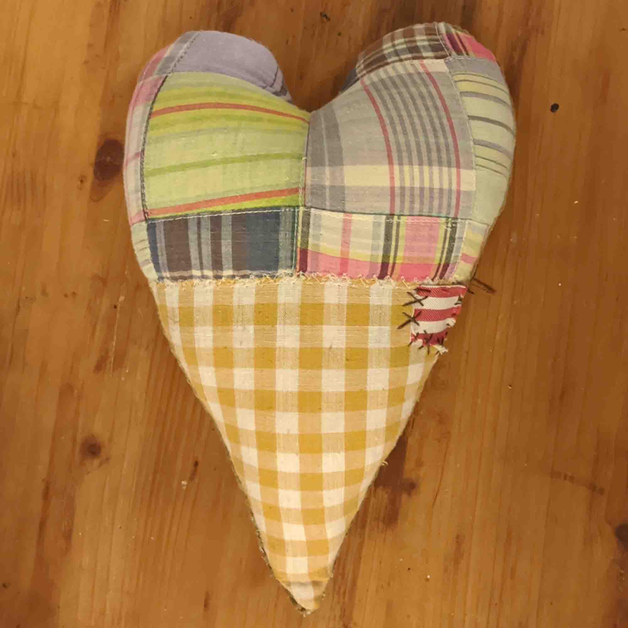 Μαξιλάρι Καρδιά / Patchwork Heart Pillow