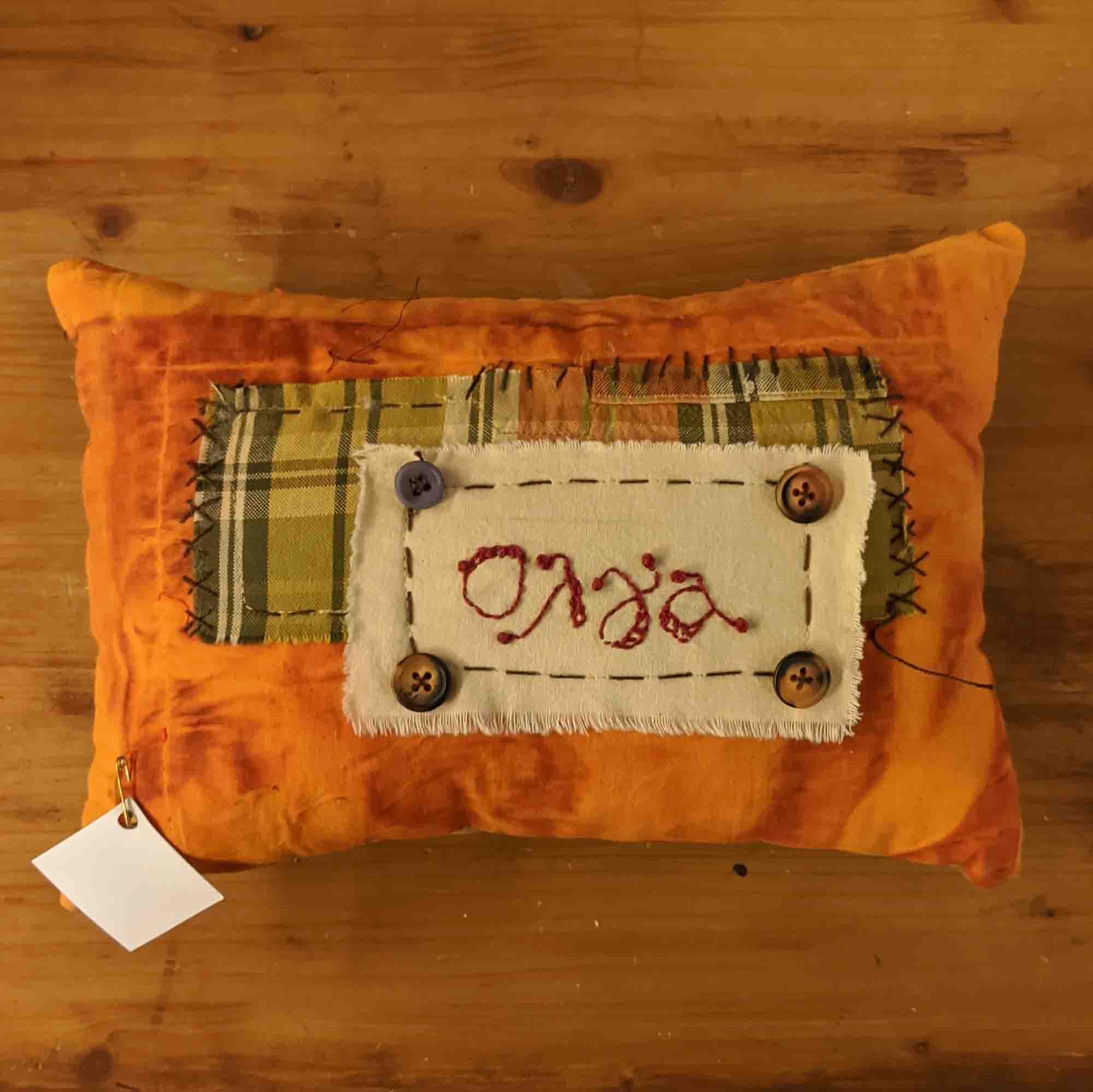 Μαξιλάρι όνομα / pillow name, embroidered