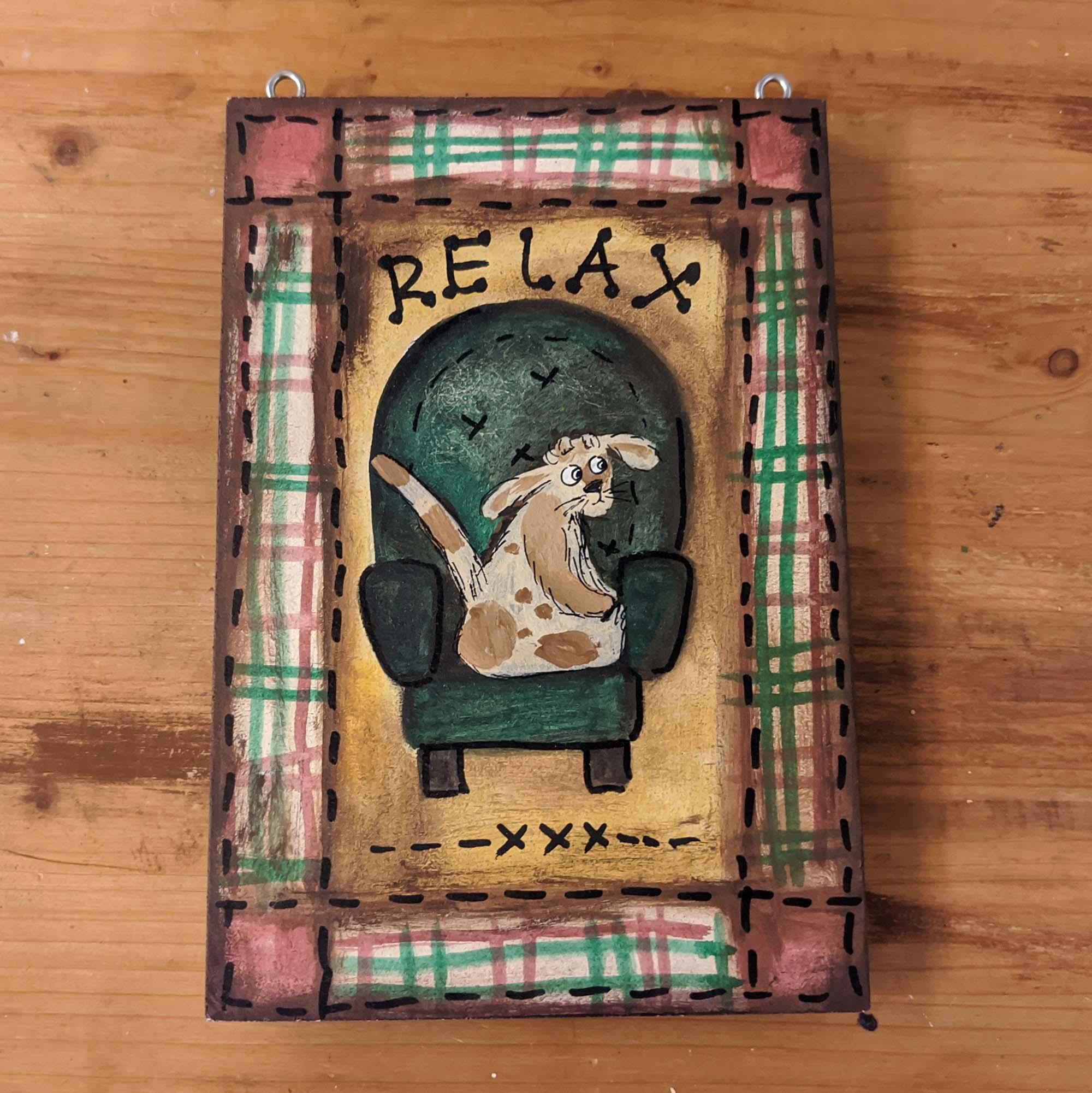 Ξύλινος πίνακας – Wooden painting, RELAX