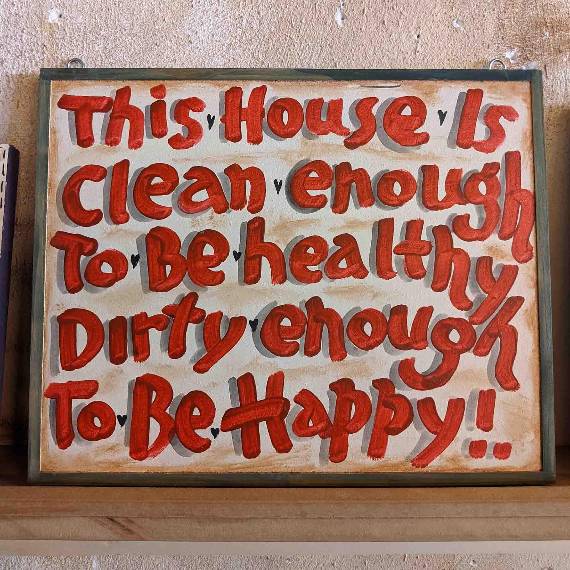Ξύλινη πινακίδα – Wooden sign, This House Is…