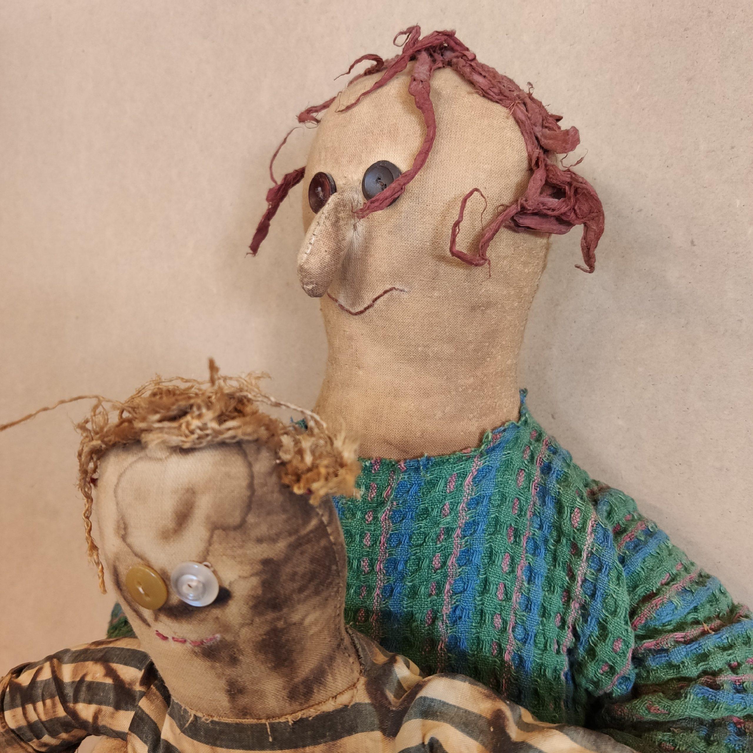Κούκλα υφασμάτινη μαμά-παιδί – Fabric mother-child doll