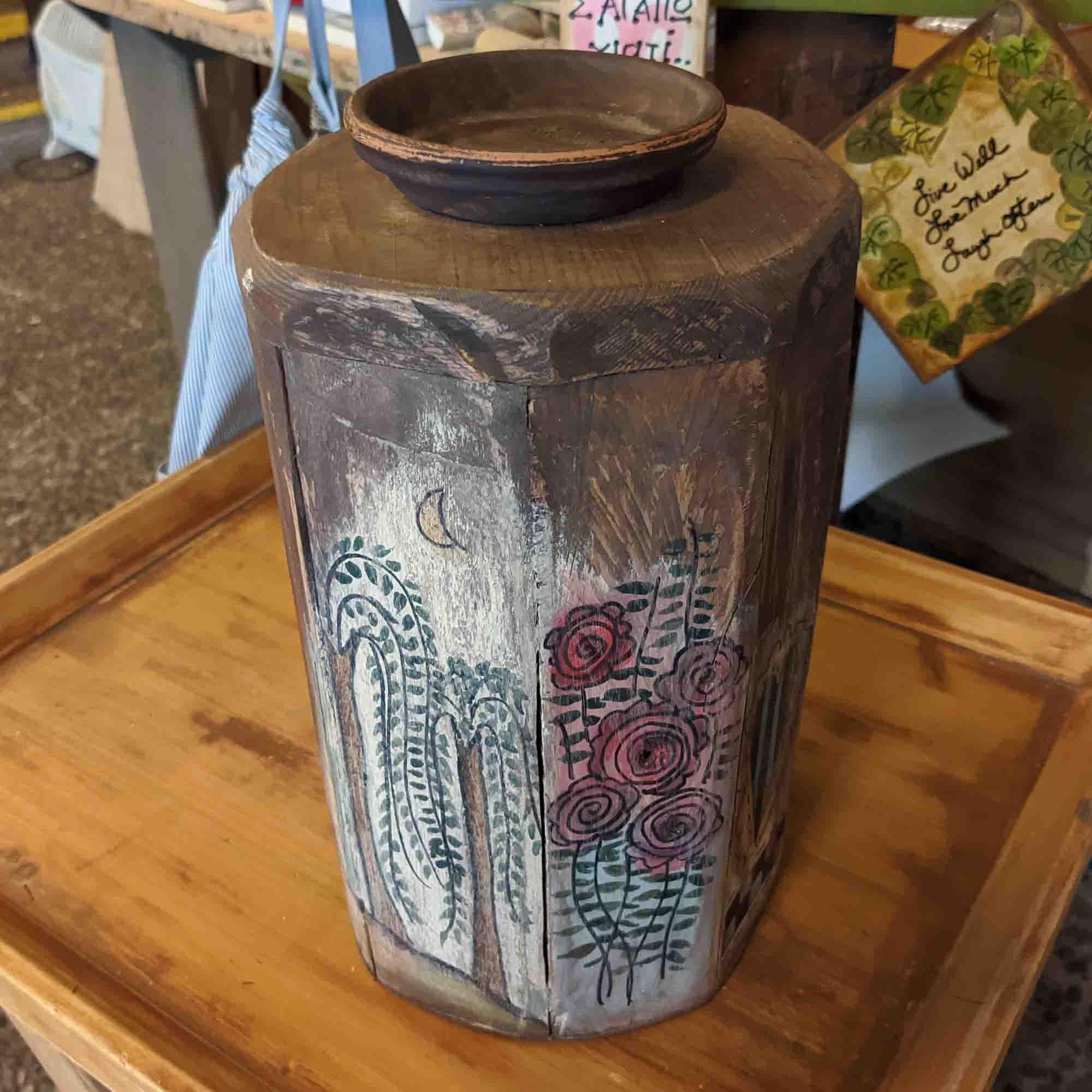 Ξύλινη βάση κεριού – Wooden base for candle