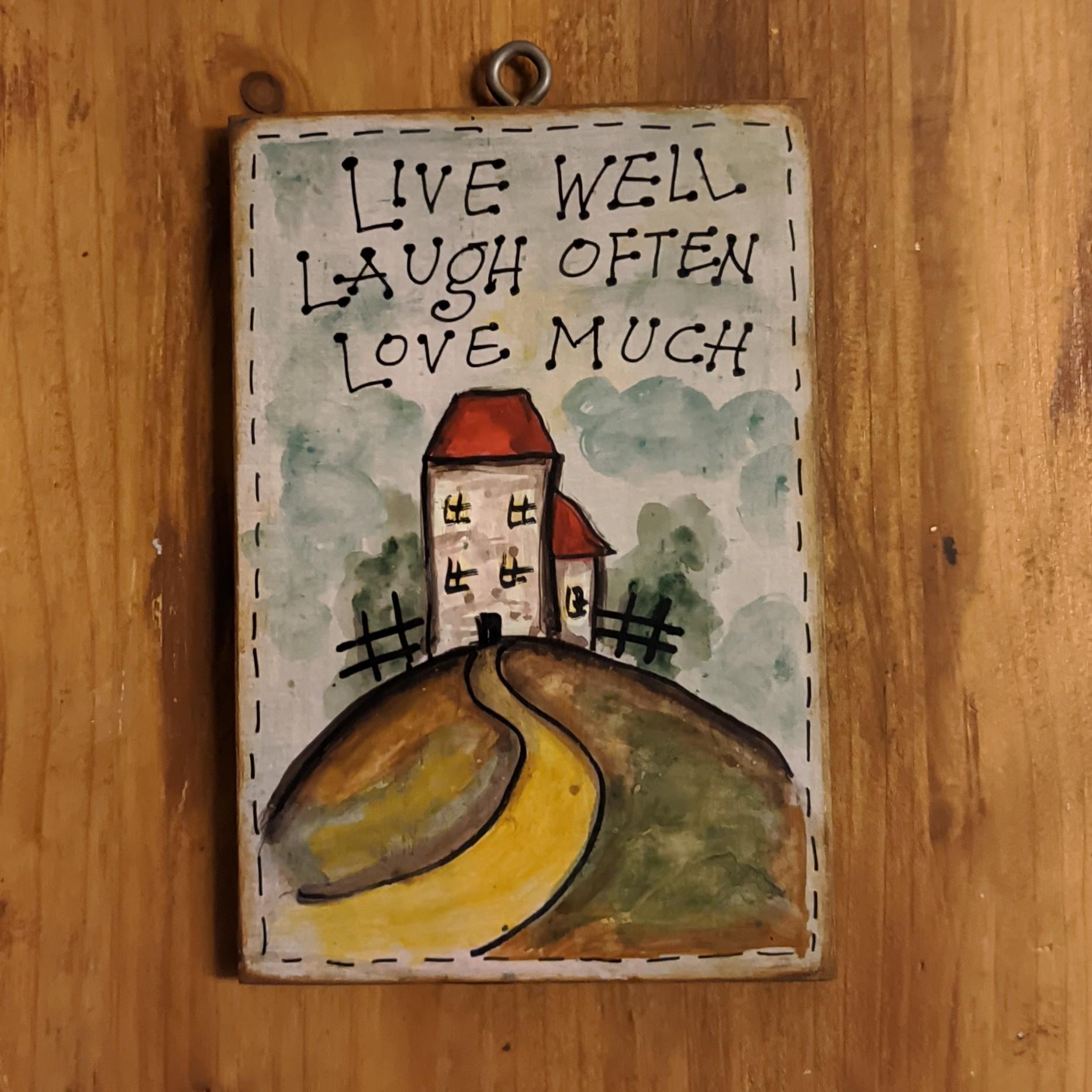 Ξύλινη πινακίδα – Live well…