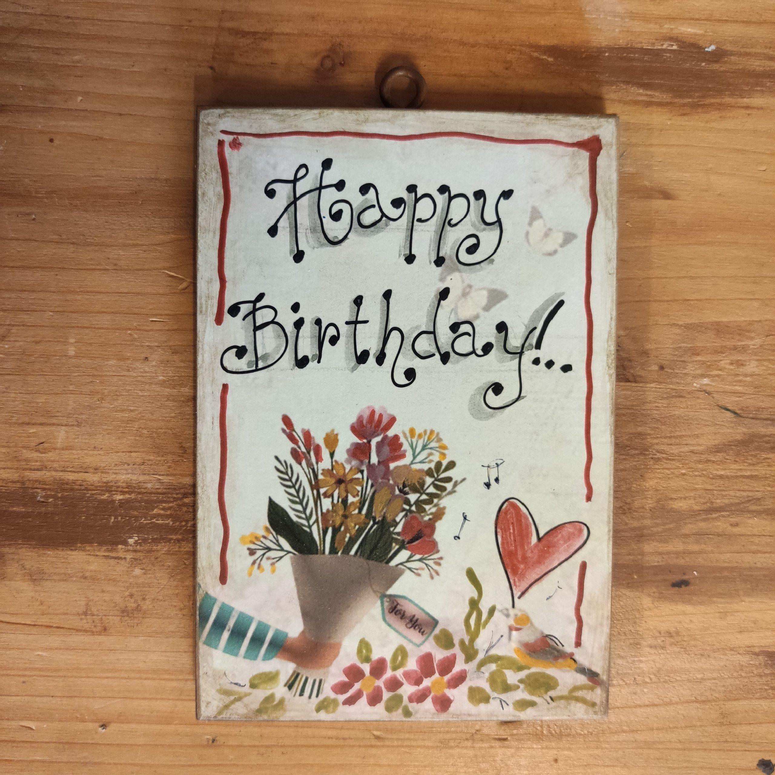 Ξύλινη πινακίδα – Happy Birthday