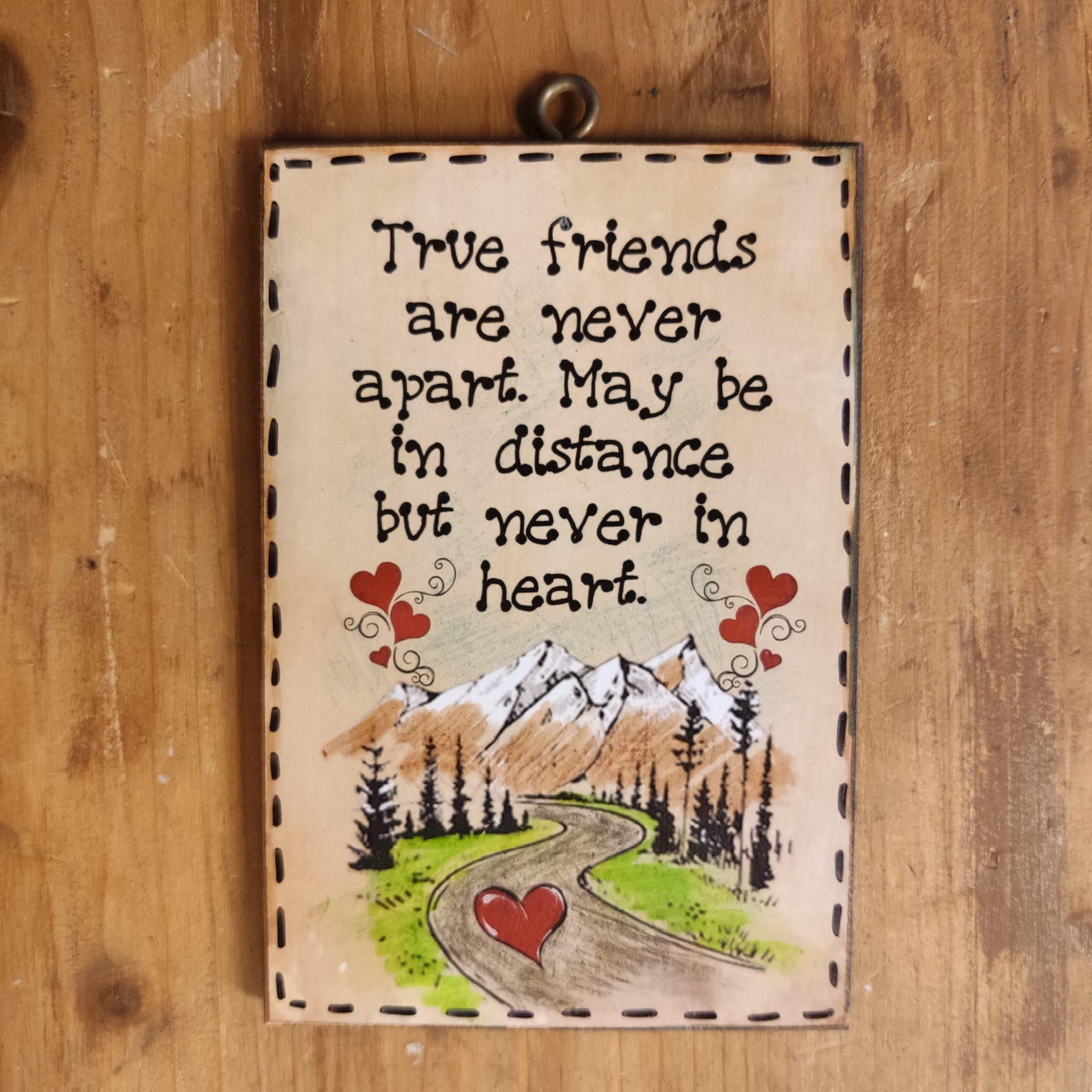 True friends…