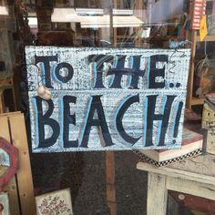 """Ξύλινη πινακίδα-""""TO THE BEACH"""""""