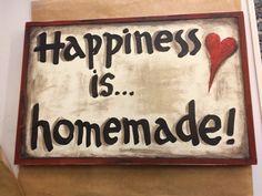 """Ξύλινη πινακίδα-""""Happiness is…"""""""