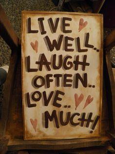 """Ξύλινη πινακίδα-""""Live well"""""""